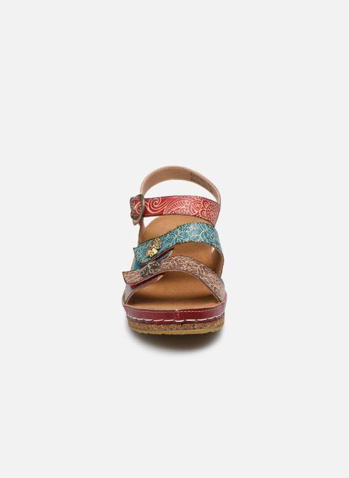 Sandales et nu-pieds Laura Vita Facscineo 13 Rouge vue portées chaussures