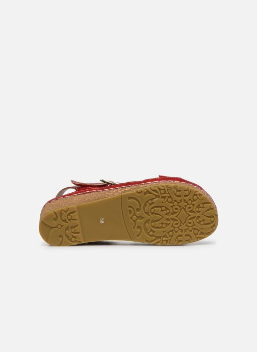 Sandales et nu-pieds Laura Vita Facscineo 13 Rouge vue haut