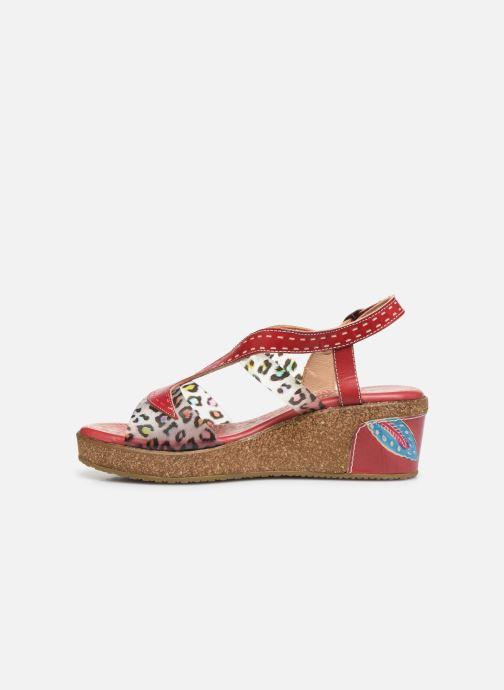 Sandales et nu-pieds Laura Vita Hackeo 06 Rouge vue face