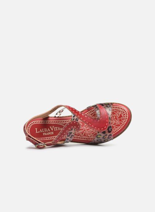 Sandales et nu-pieds Laura Vita Hackeo 06 Rouge vue gauche