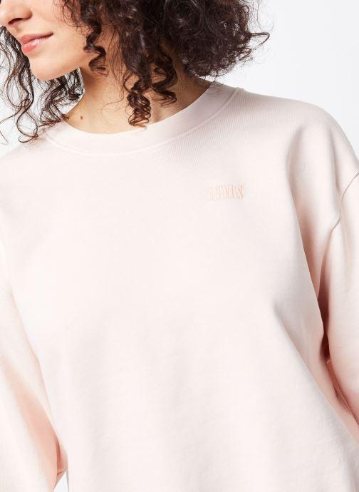 Vêtements Levi's Sweatshirt hoodie Diana Crew Rose vue face