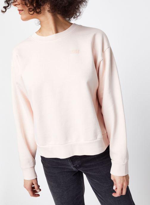 Vêtements Levi's Sweatshirt hoodie Diana Crew Rose vue droite