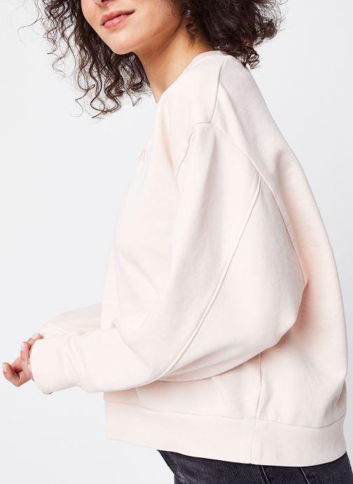 Vêtements Levi's Sweatshirt hoodie Diana Crew Rose vue détail/paire