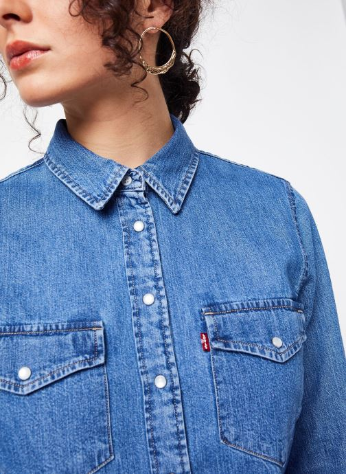 Vêtements Levi's Chemise Essential Western Bleu vue face