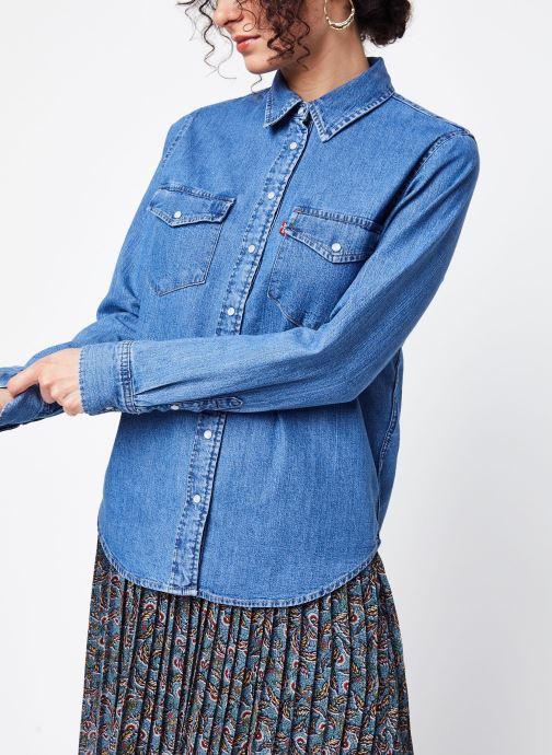 Vêtements Levi's Chemise Essential Western Bleu vue droite