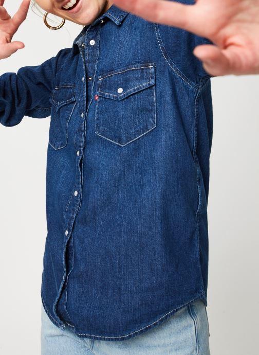 Vêtements Levi's Chemise Essential Western Bleu vue détail/paire