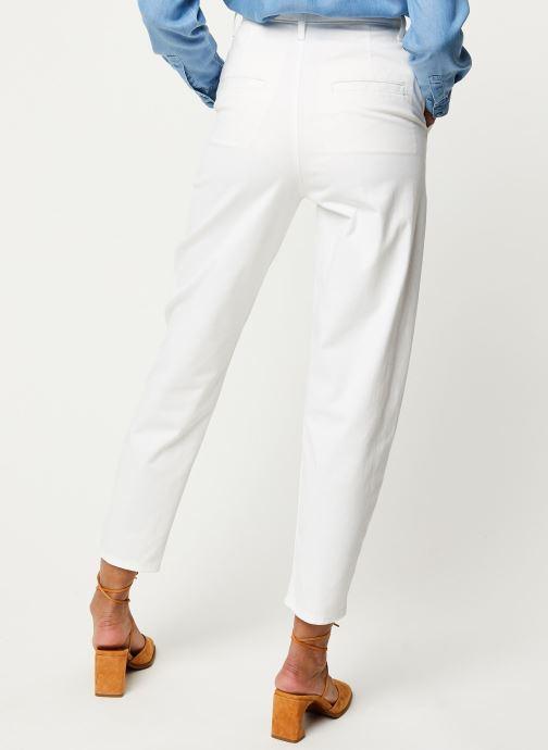 Vêtements Levi's Jean large Pleated Balloon Blanc vue portées chaussures