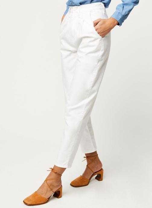 Vêtements Levi's Jean large Pleated Balloon Blanc vue détail/paire