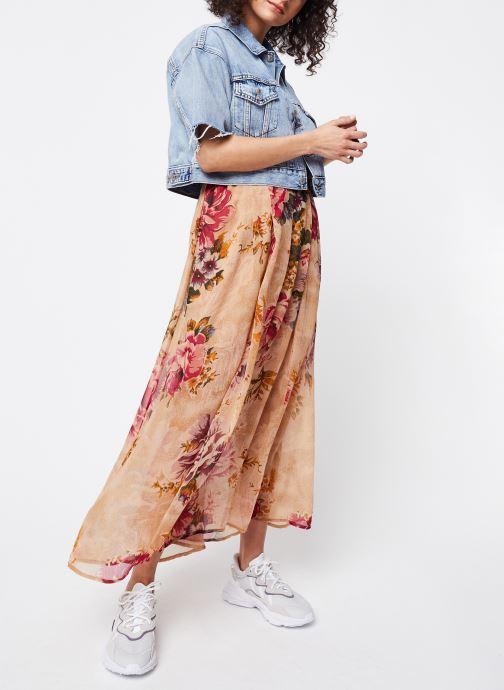 Vêtements Levi's Veste en jean Ss Crop Dad Trucker Bleu vue bas / vue portée sac