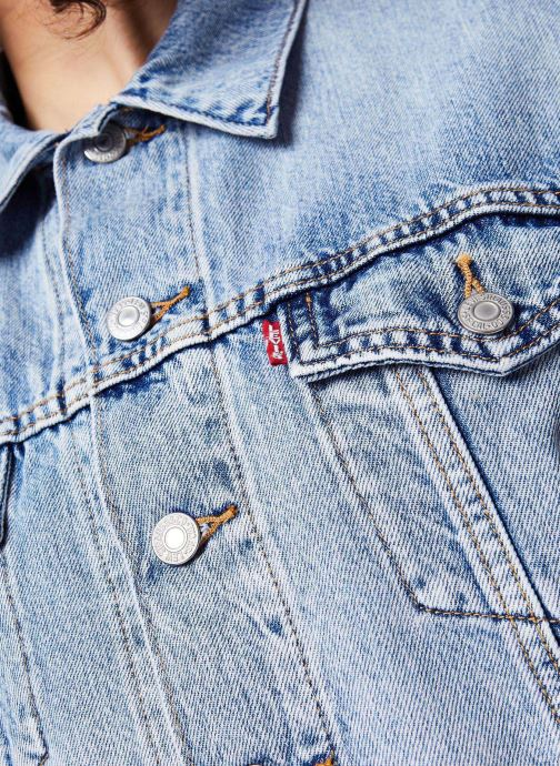 Vêtements Levi's Veste en jean Ss Crop Dad Trucker Bleu vue face