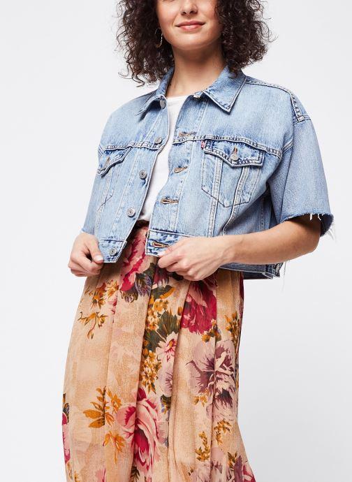 Vêtements Levi's Veste en jean Ss Crop Dad Trucker Bleu vue détail/paire