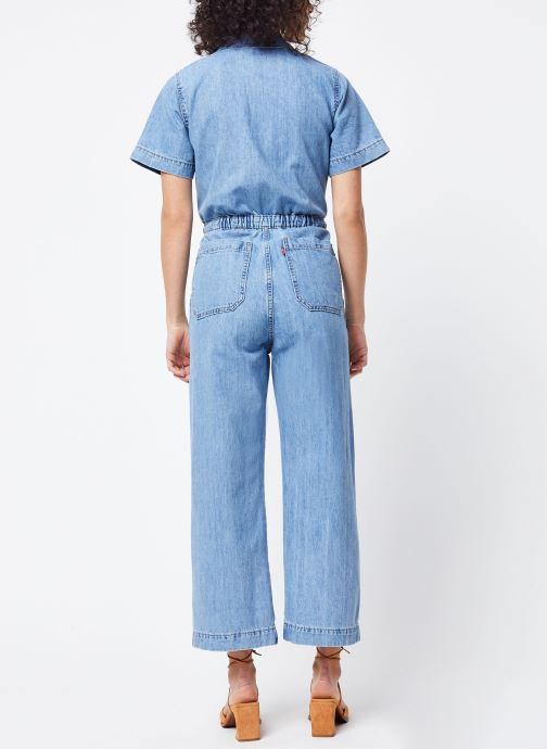 Vêtements Levi's Combinaison Wide Leg Jumpsuit Bleu vue portées chaussures