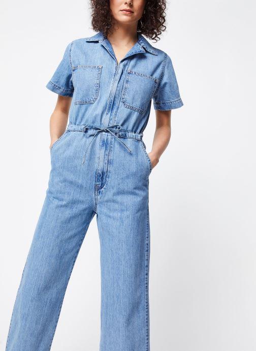 Vêtements Levi's Combinaison Wide Leg Jumpsuit Bleu vue détail/paire