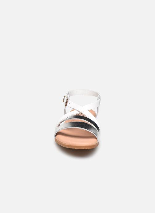 Sandali e scarpe aperte I Love Shoes INHELLO LEATHER Argento modello indossato