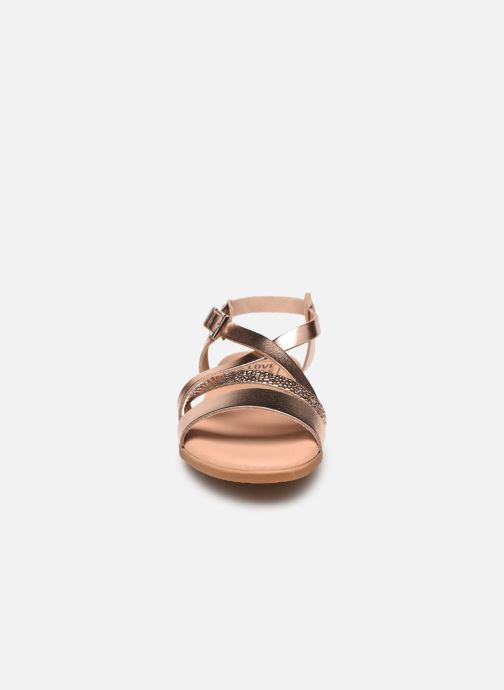 Sandali e scarpe aperte I Love Shoes INHELLO LEATHER Oro e bronzo modello indossato