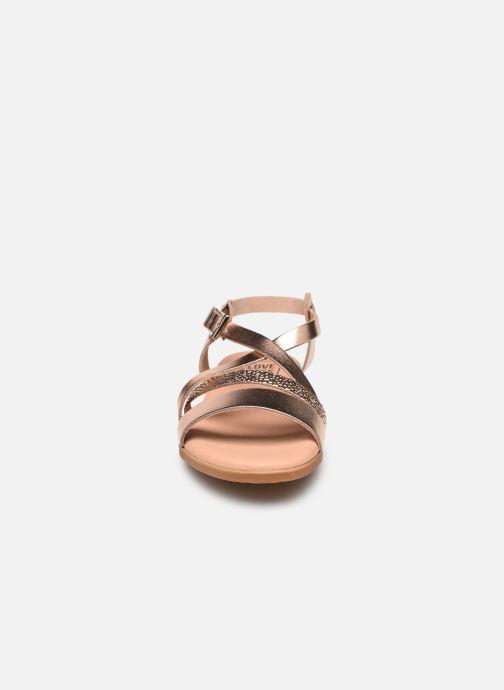 Sandales et nu-pieds I Love Shoes INHELLO LEATHER Or et bronze vue portées chaussures