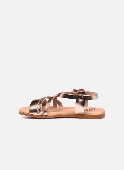 Sandalias I Love Shoes INHELLO LEATHER Oro y bronce vista de frente