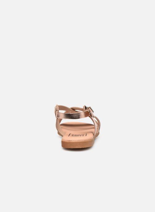 Sandali e scarpe aperte I Love Shoes INHELLO LEATHER Oro e bronzo immagine destra
