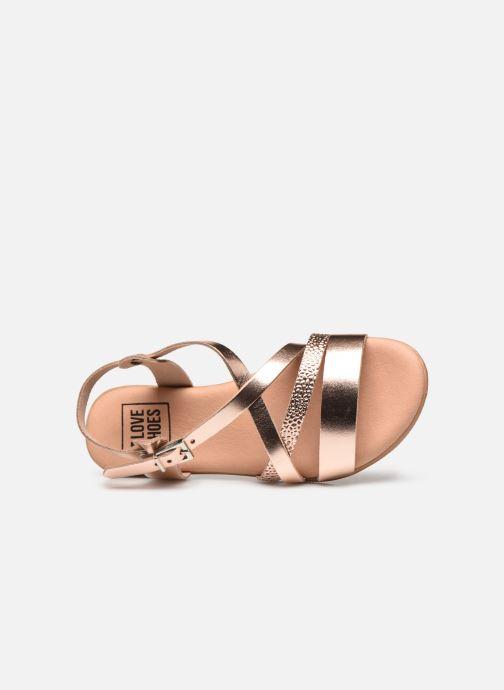 Sandalias I Love Shoes INHELLO LEATHER Oro y bronce vista lateral izquierda