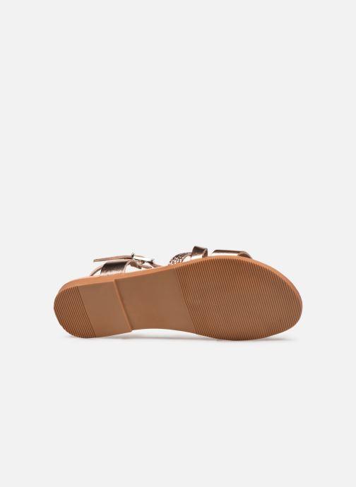 Sandales et nu-pieds I Love Shoes INHELLO LEATHER Or et bronze vue haut