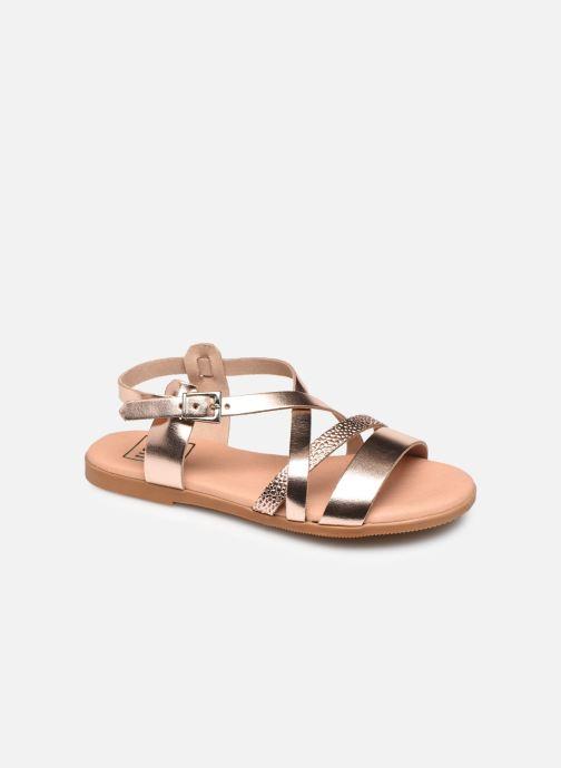 Sandalias I Love Shoes INHELLO LEATHER Oro y bronce vista de detalle / par