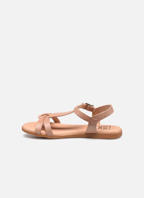 Sandales et nu-pieds I Love Shoes INESSE LEATHER Marron vue face