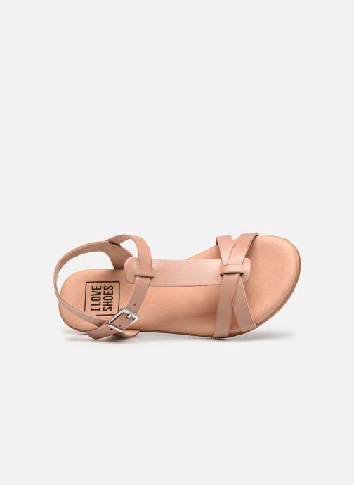 Sandales et nu-pieds I Love Shoes INESSE LEATHER Marron vue gauche