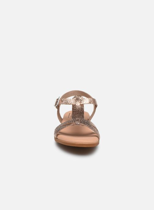 Sandalias I Love Shoes INESSE LEATHER Oro y bronce vista del modelo