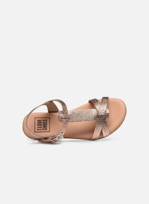 Sandals I Love Shoes INESSE Bronze and Gold view from the left