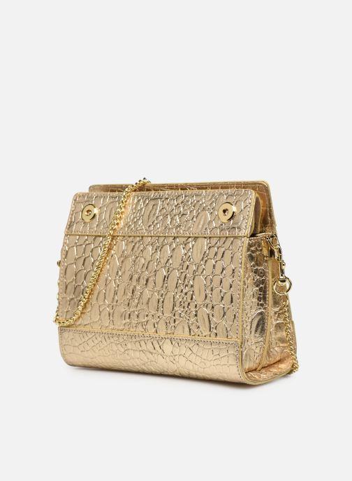 Bolsos de mano Sabrina HUBERTINE Oro y bronce vista del modelo