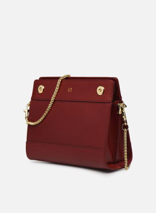 Handtaschen Sabrina HUBERTINE weinrot schuhe getragen