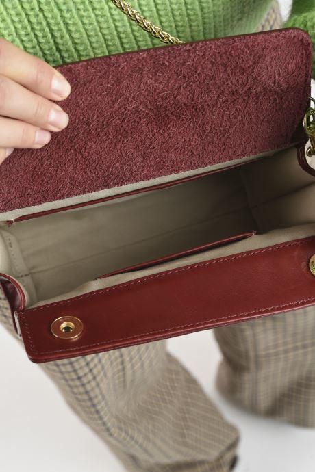 Handtaschen Sabrina HUBERTINE weinrot ansicht von hinten