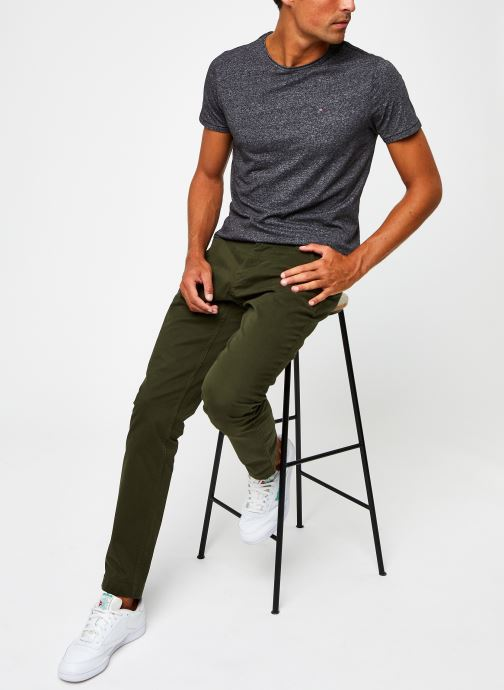 Vêtements Tommy Jeans TJM Essential Jaspe Tee Gris vue bas / vue portée sac