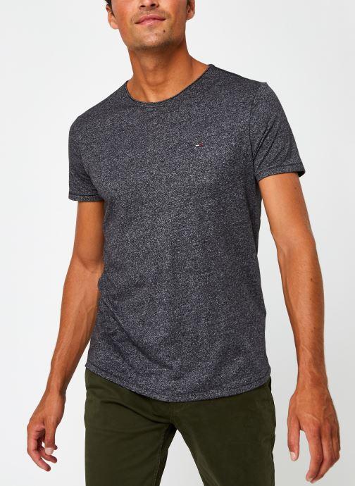 Vêtements Tommy Jeans TJM Essential Jaspe Tee Gris vue droite