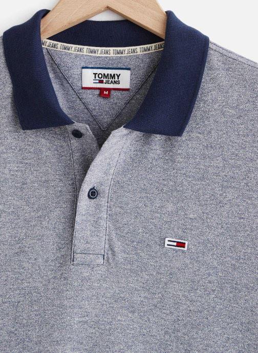 Vêtements Tommy Jeans TJM Textured Polo Bleu vue portées chaussures