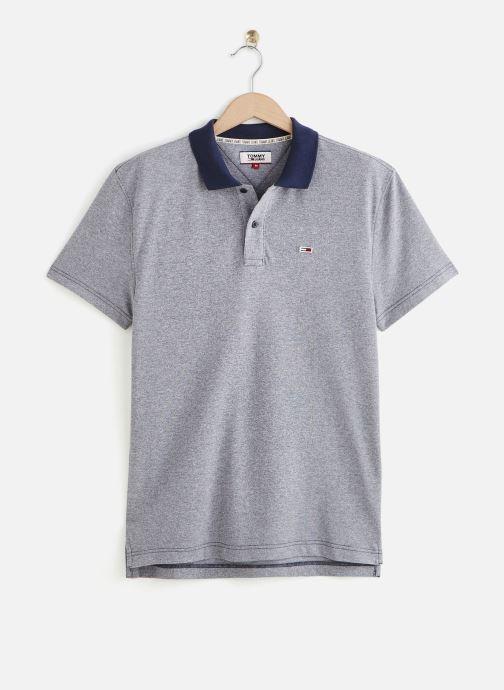 Vêtements Tommy Jeans TJM Textured Polo Bleu vue détail/paire
