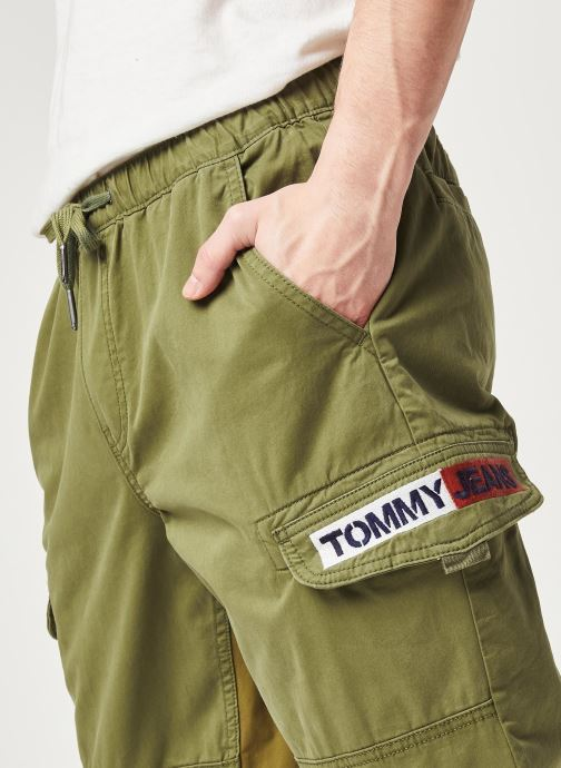 Vêtements Tommy Jeans TJM Tapered Cuffed Cargo Pant Vert vue face