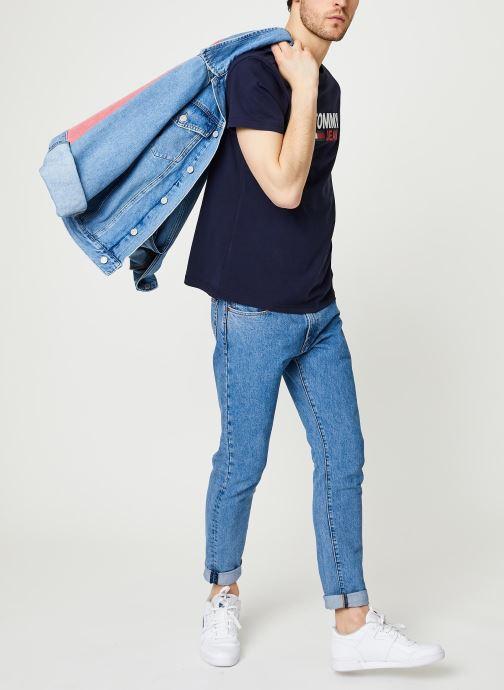Vêtements Tommy Jeans TJM Corp Logo Tee Bleu vue bas / vue portée sac