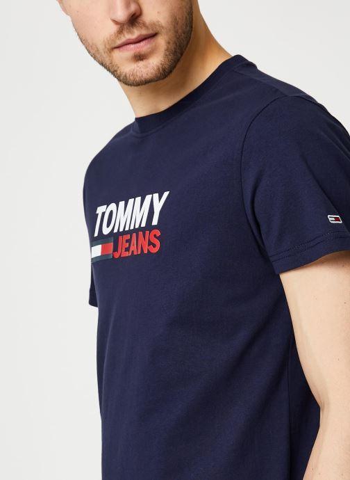 Vêtements Tommy Jeans TJM Corp Logo Tee Bleu vue face