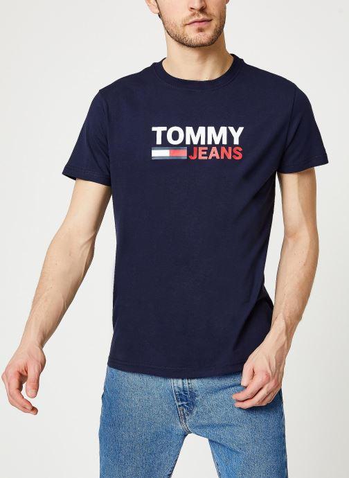 Vêtements Tommy Jeans TJM Corp Logo Tee Bleu vue droite