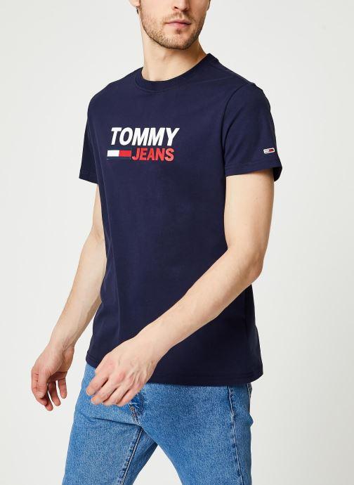 Vêtements Tommy Jeans TJM Corp Logo Tee Bleu vue détail/paire