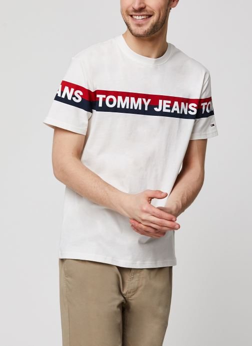 TJM Double Stripe Logo Tee