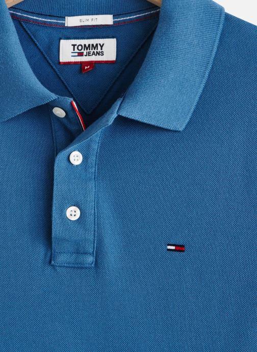 Vêtements Tommy Jeans TJM Nos Polo Bleu vue portées chaussures