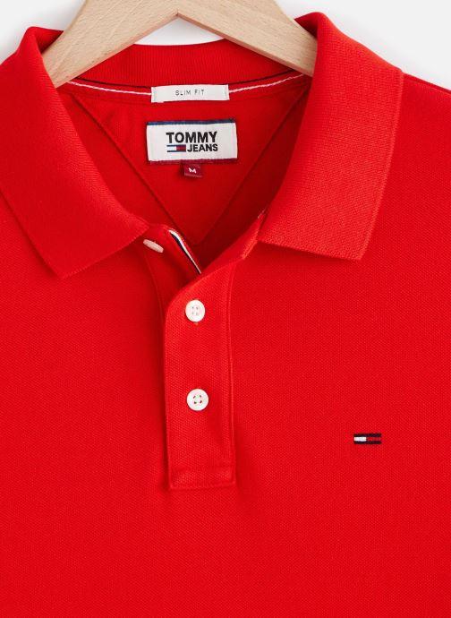 Vêtements Tommy Jeans TJM Nos Polo Rouge vue portées chaussures