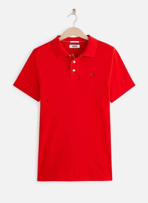 Vêtements Tommy Jeans TJM Nos Polo Rouge vue détail/paire