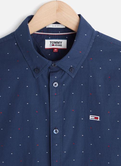 Tommy Jeans TJM Shortsleeve Dobby Shirt (Bleu) - Vêtements chez Sarenza (429511)