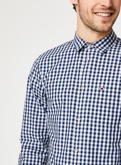 Vêtements Tommy Jeans TJM Overdye Poplin Check Shirt Blanc vue face