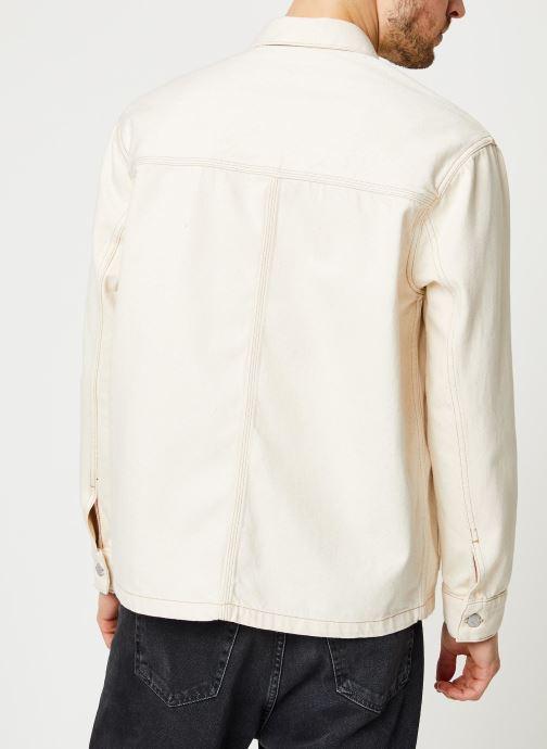 Vêtements Tommy Jeans Oversize Workwear Jacket Wrkec Beige vue portées chaussures