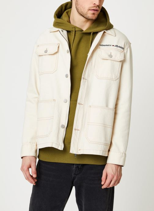 Vêtements Tommy Jeans Oversize Workwear Jacket Wrkec Beige vue détail/paire