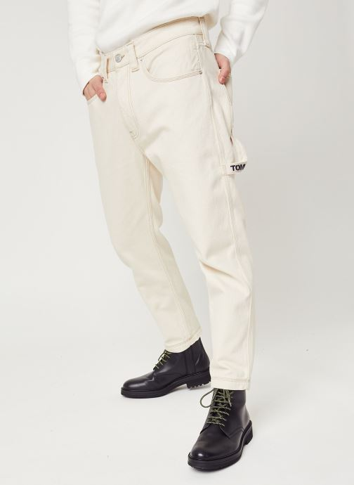 Vêtements Tommy Jeans Rey Workwear Pants Wrkec Beige vue détail/paire